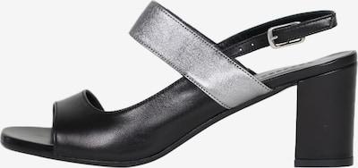 Accessoire diffusion Sandale 'Panka' in schwarz / silber, Produktansicht