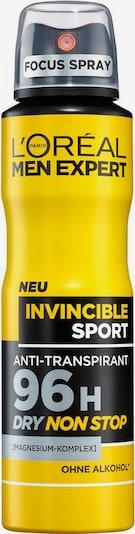 L'Oréal Paris men expert 'Invincible Sport', Deo-Spray in gelb / schwarz, Produktansicht
