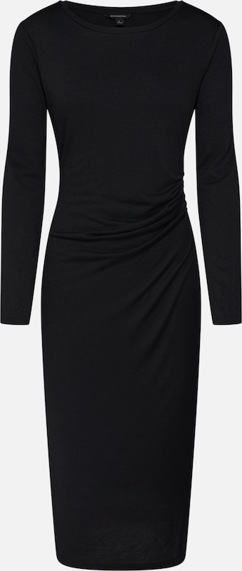 Banana Republic Twist En Side Maille Cozy Dress' 'ls Knit Sheath Noir Robes QrBoWCexEd