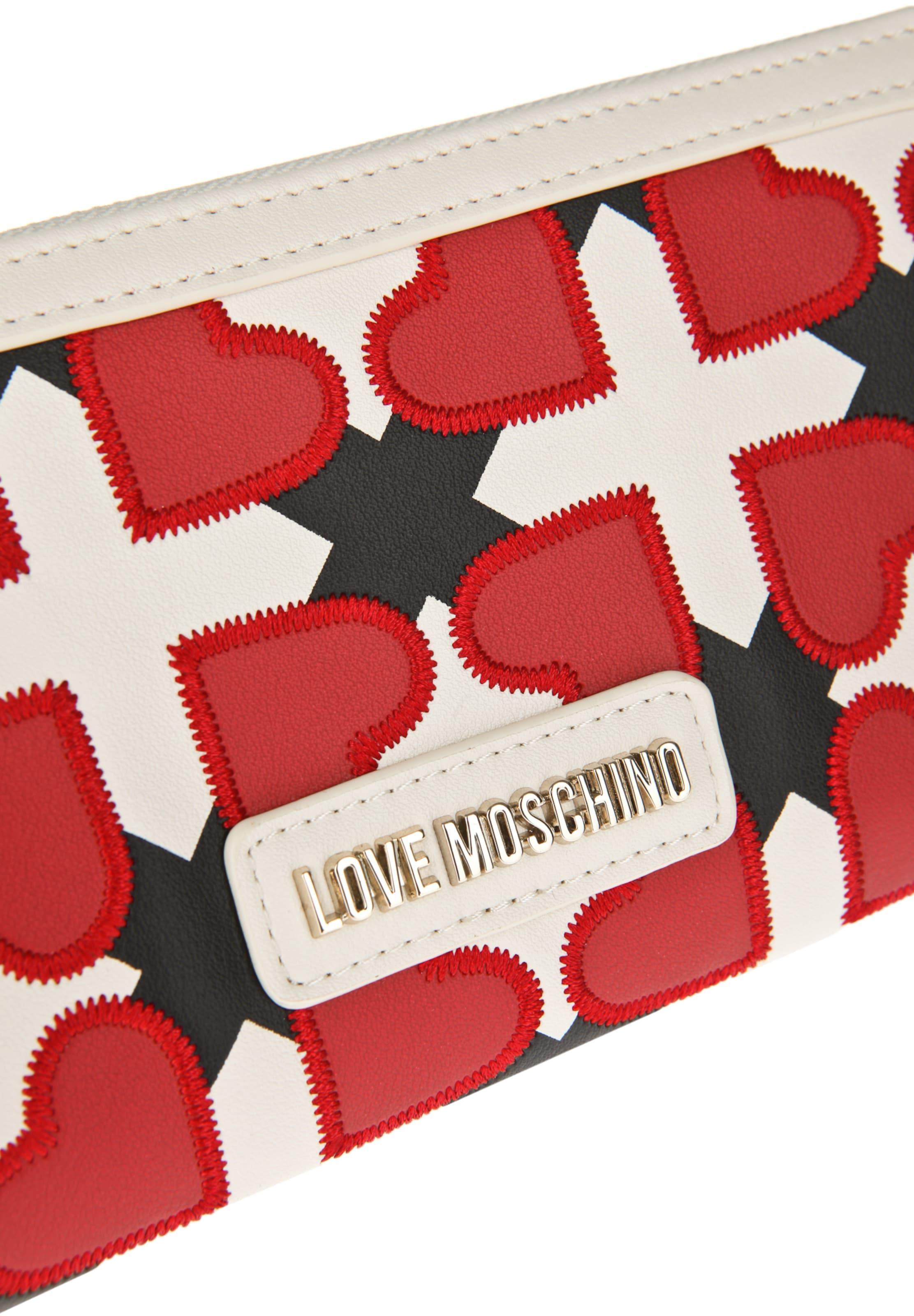 Love Herzmotiven Geldb枚rse Moschino mit Love Love mit Moschino Geldb枚rse Moschino Herzmotiven 7vfqdv