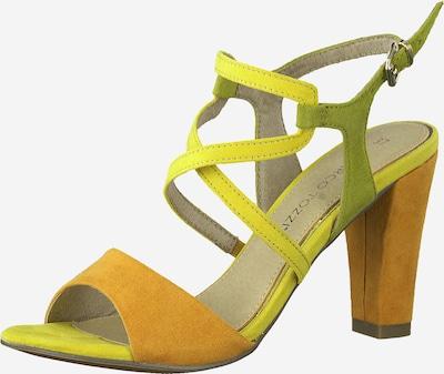 MARCO TOZZI Sandale in gelb / grün / orange, Produktansicht