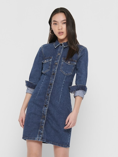 JACQUELINE de YONG Dress in Blue denim, View model