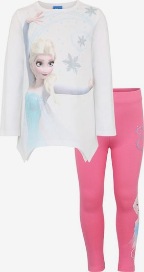 Disney Frozen Shirt & Leggings 'Elsa' in pink / weiß, Produktansicht
