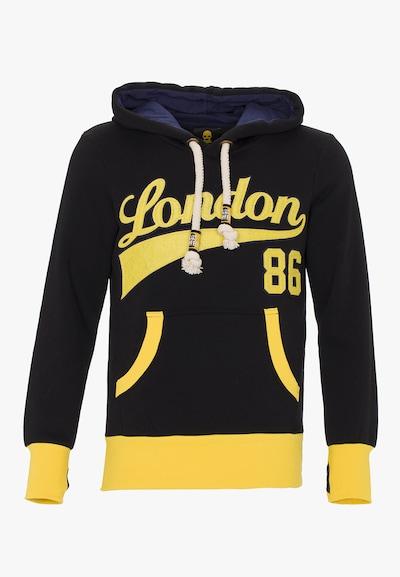 PLUS EIGHTEEN Sweatshirt in de kleur Geel / Zwart, Productweergave