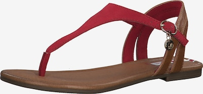 s.Oliver Sandale in braun / rot, Produktansicht