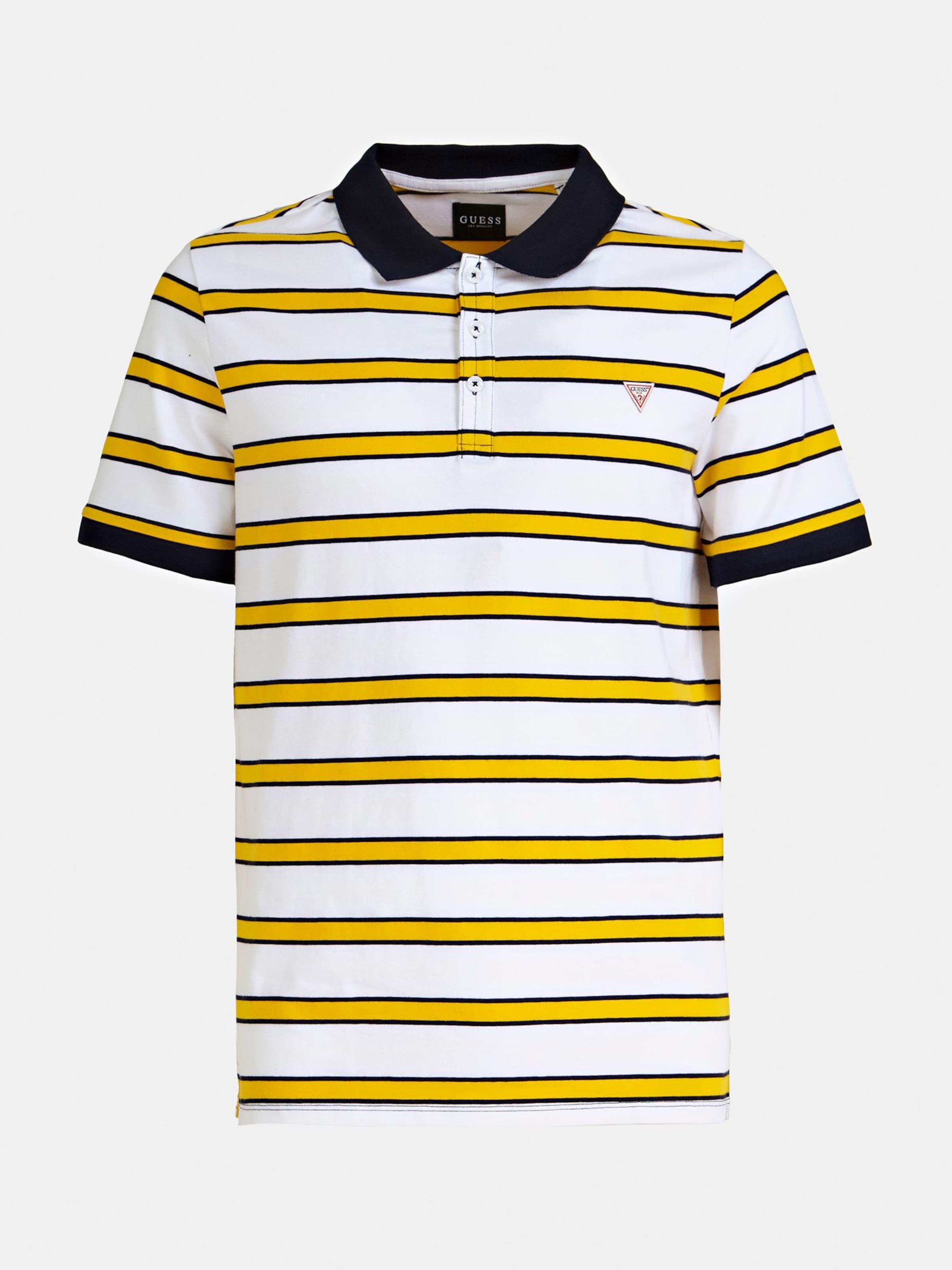 KobaltblauGelb Guess In KobaltblauGelb Weiß Shirt Shirt In In Guess Guess Shirt Weiß Nw8m0n