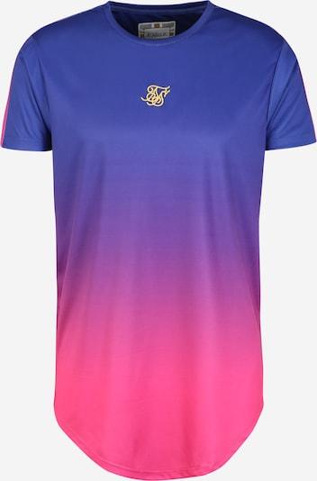 SikSilk Shirt in royalblau / neonpink, Produktansicht