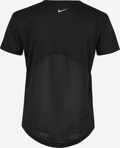 NIKE Sportshirt 'Miler' in schwarz / weiß: Rückansicht