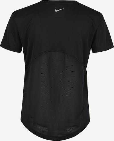 NIKE T-shirt fonctionnel 'Miler' en noir / blanc: Vue de dos