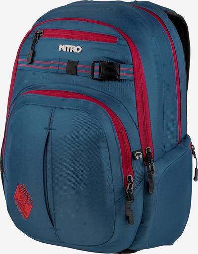 NITRO Sportrugzak 'Snowboards Chase' in de kleur Petrol / Rood / Zwart, Productweergave