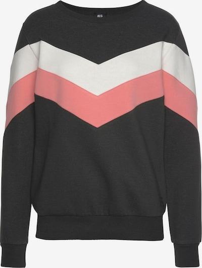 HIS JEANS Sweatshirt in hellpink / schwarz / naturweiß, Produktansicht