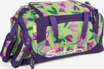 Satch Tasche in hellgrün / dunkellila, Produktansicht