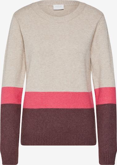Megztinis iš VILA , spalva - smėlio / rožinė / vyno raudona spalva, Prekių apžvalga