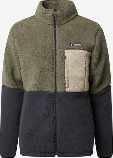 COLUMBIA Fleecová mikina - krémová / tmavě šedá / zelená, Produkt