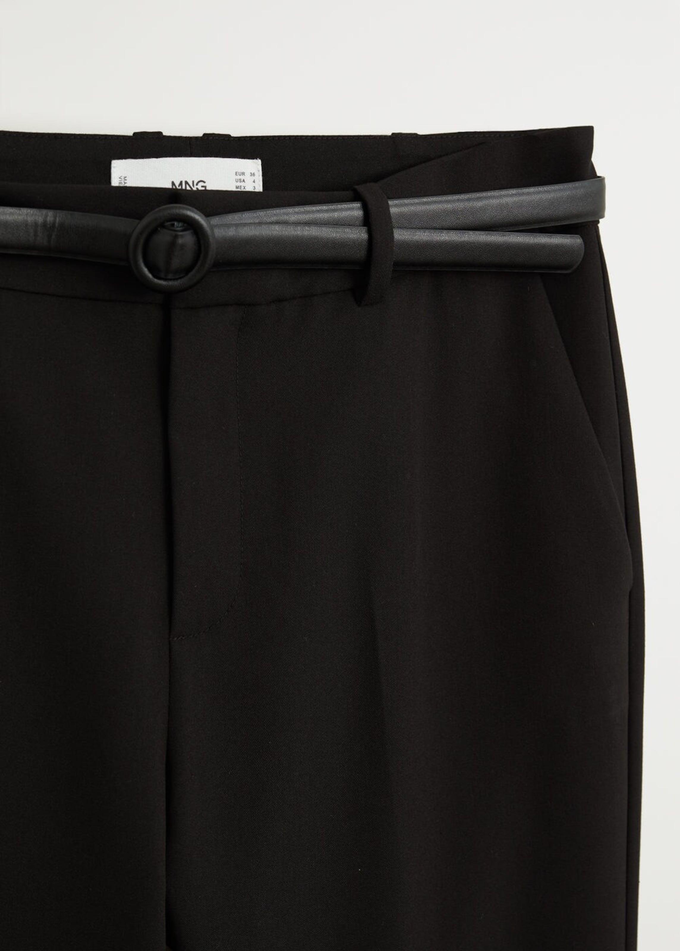 MANGO Hose 'Boreal' in schwarz