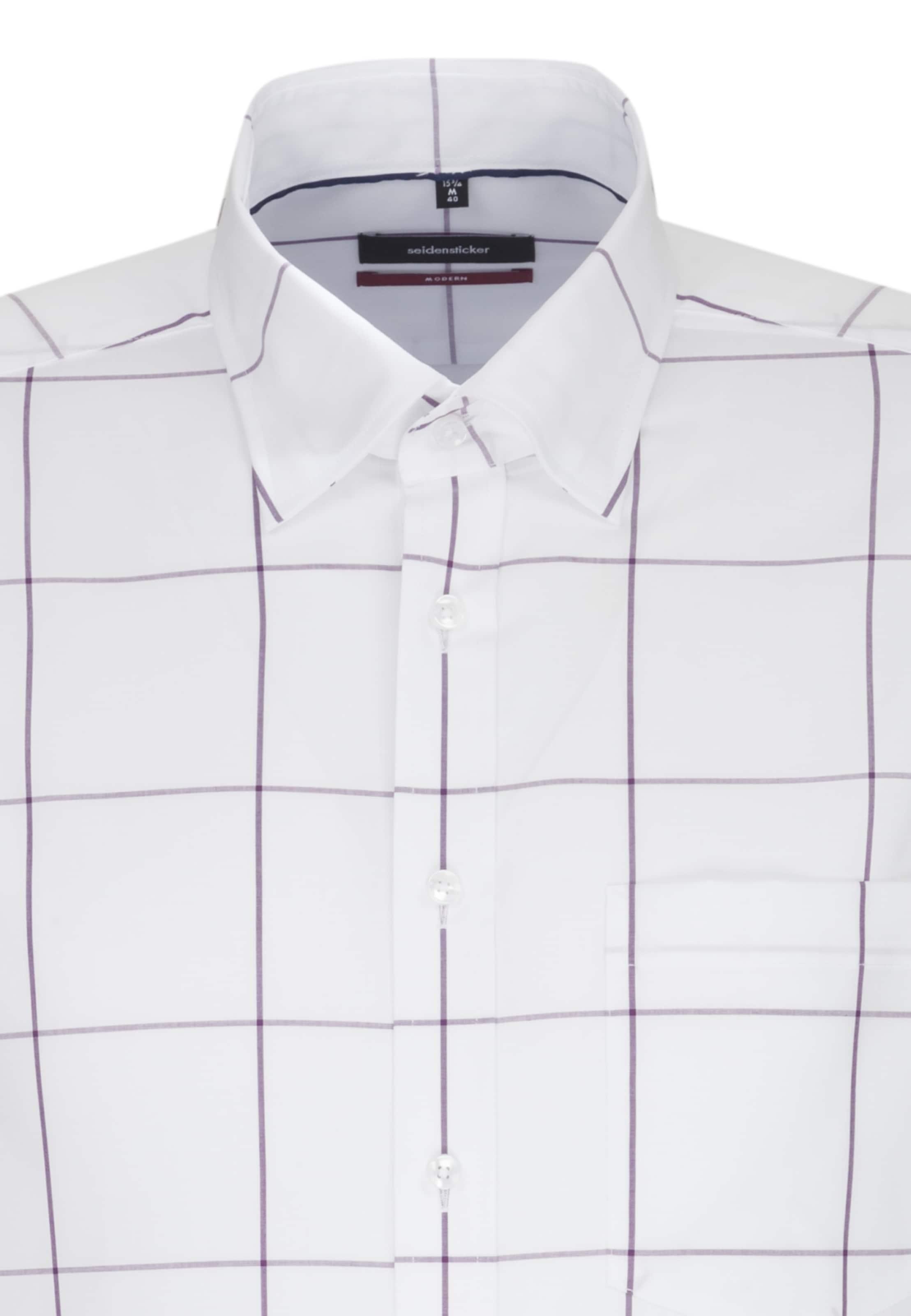 Seidensticker Hemd Hemd In Seidensticker In LilaWeiß N8vOn0mw