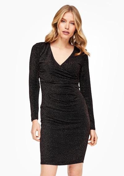 s.Oliver BLACK LABEL Sukienka koktajlowa w kolorze czarnym: Widok z przodu