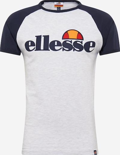 ELLESSE Shirt 'PIAVE' in nachtblau / hellgrau / orange / neonorange / rot, Produktansicht