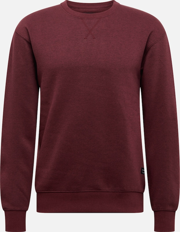 JACK & JONES Sweatshirt 'SOFT' in weinrot: Frontalansicht