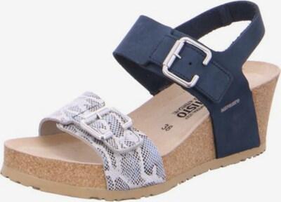 MEPHISTO Sandale in beige / hellblau / dunkelblau / dunkelbraun, Produktansicht