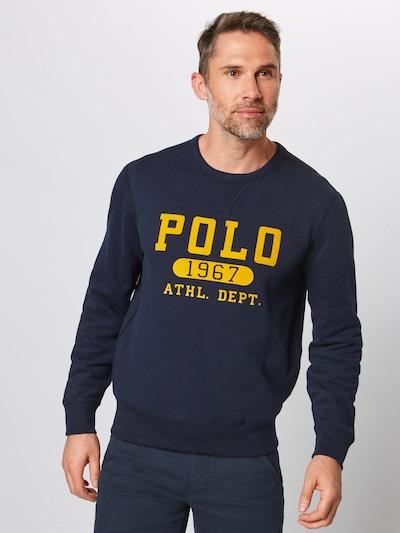 Megztinis be užsegimo iš POLO RALPH LAUREN , spalva - tamsiai mėlyna / geltona: Vaizdas iš priekio