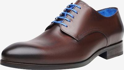 SHOEPASSION Businessschuhe durchgenäht 'No. 5569 BL' in blau / braun, Produktansicht