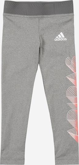 ADIDAS PERFORMANCE Pantalon de sport 'G UP2MV A.R. T' en gris chiné / rouge orangé / blanc, Vue avec produit