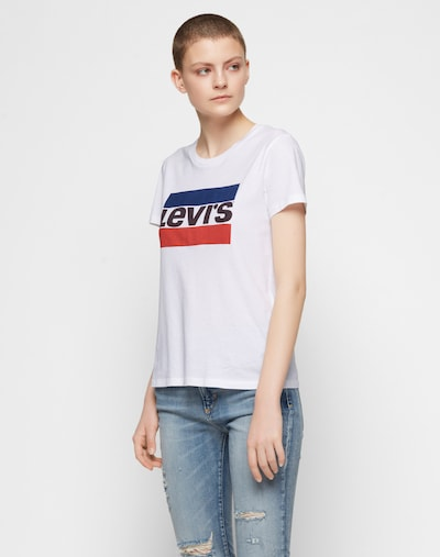 LEVI'S Shirt mit Logo-Print in blau / rot / schwarz / weiß: Frontalansicht