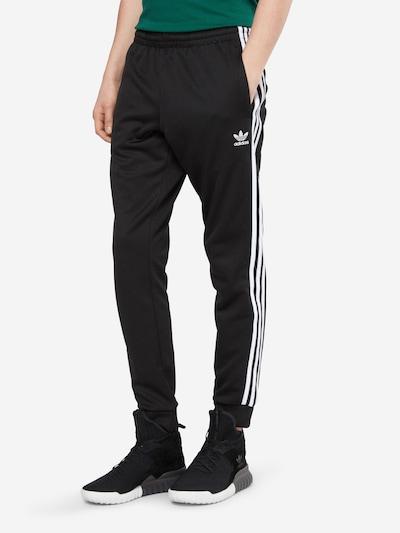 ADIDAS ORIGINALS Hose in schwarz / weiß: Frontalansicht