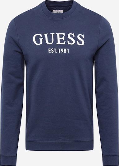 GUESS Sweatshirt 'Bastian' in navy / weiß, Produktansicht