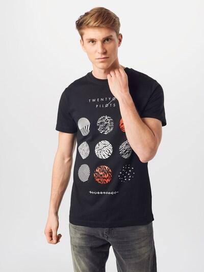 Mister Tee T-Shirt 'Twenty One Pilots' in feuerrot / schwarz / weiß: Frontalansicht