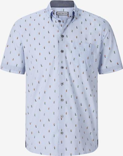 Shirtmaster Chemise 'Thewanderer' en bleu fumé / mélange de couleurs, Vue avec produit