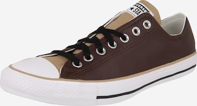 Sneaker low 'Chuck Taylor All Star - Ox' CONVERSE pe bej / maro închis / alb: Privire frontală