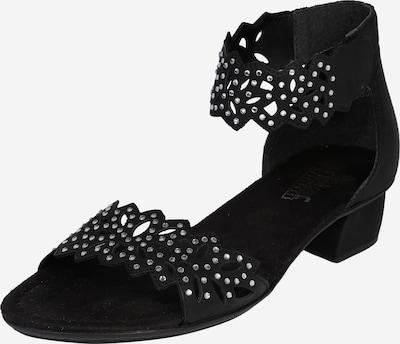 RIEKER Sandale 'Stanz' in schwarz: Frontalansicht