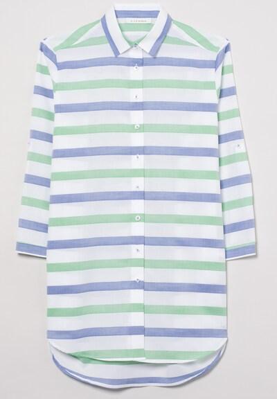 ETERNA Dreiviertelarm Bluse MODERN CLASSIC in blau / grün / weiß, Produktansicht