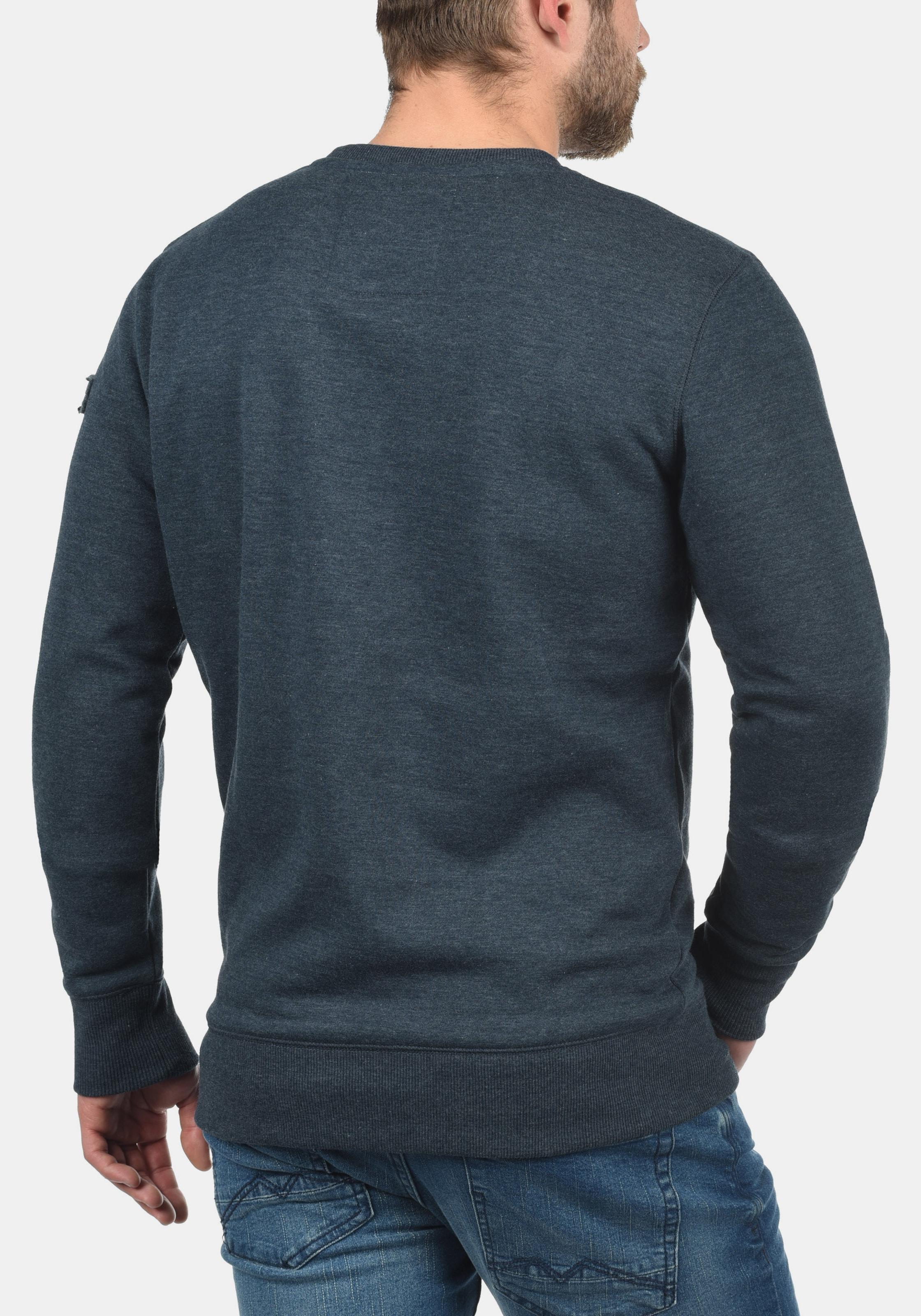 o neck' In Sweatshirt 'trip solid Blau roxQCedBW