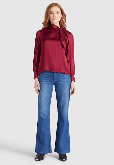 khujo Bluse ' ASNAT ' in rot, Modelansicht