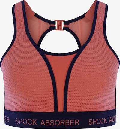 SHOCK ABSORBER Soutien-gorge de sport ' RUN Padded ' en bleu foncé / corail, Vue avec produit