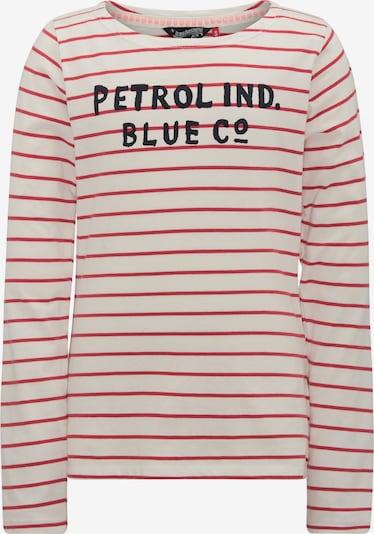 Petrol Industries Shirt in de kleur Vuurrood / Zwart / Wolwit, Productweergave