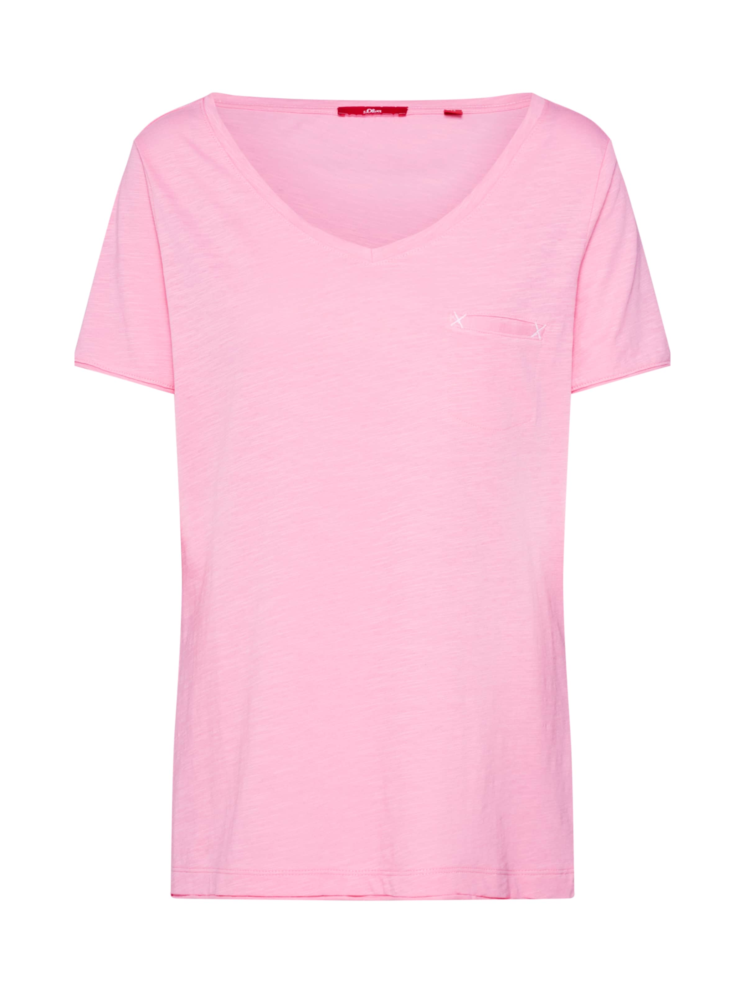 S oliver Label Pink In Shirt Red wZ8ONnX0Pk