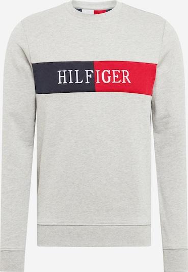 TOMMY HILFIGER Sweatshirt 'Intarsia' in blau / grau / rot, Produktansicht