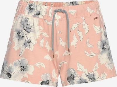 Pantaloni de pijama LASCANA pe gri deschis / roz / alb natural, Vizualizare produs