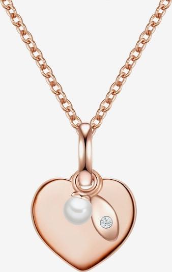 Valero Pearls Silberhalskette in rosegold, Produktansicht