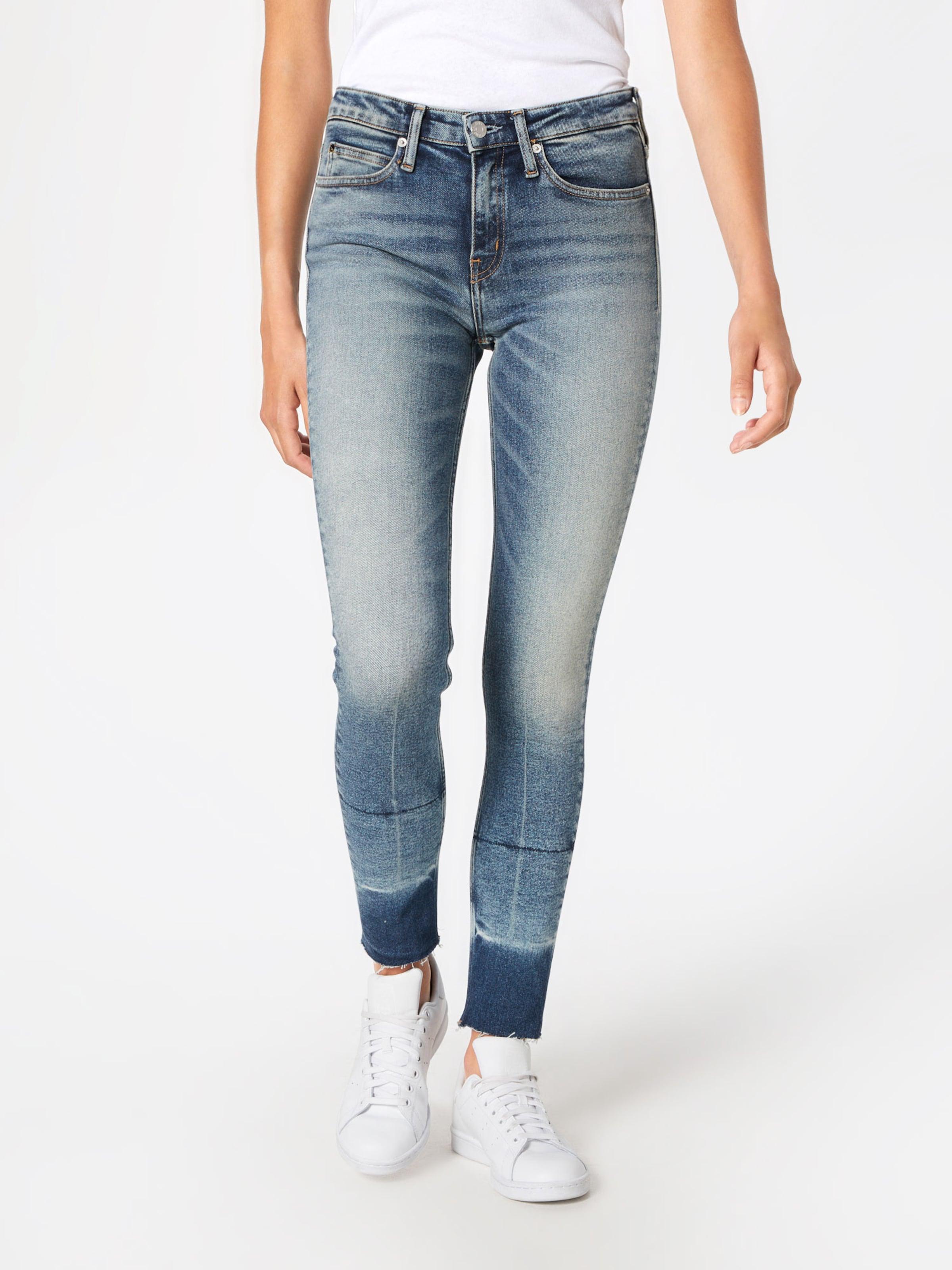 011 Calvin 'ckj Jeans Mid West Denim In Klein Blue Rise Skinny Ankle' HI29ED