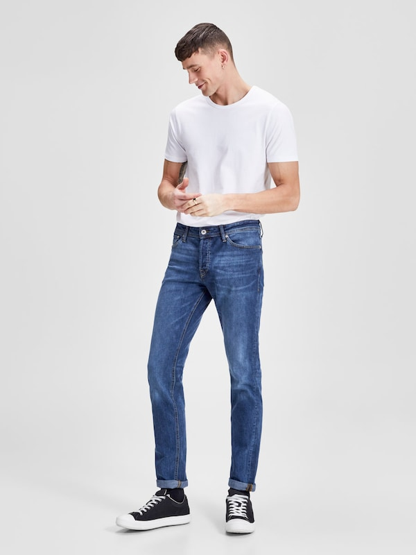 JACK & JONES Slim Fit Jeans 'TIM ORIGINAL AM 653 LID'