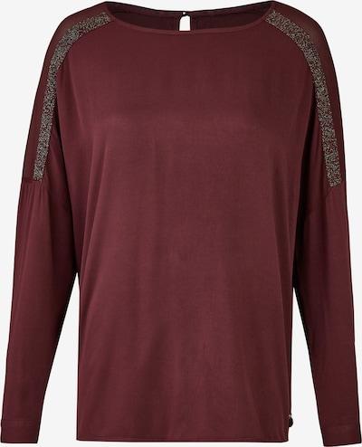 Heimatliebe Bluse in weinrot / silber, Produktansicht