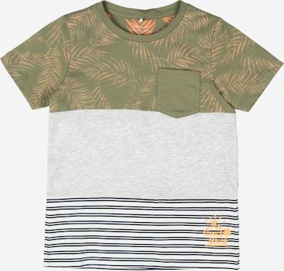 NAME IT Tričko - námořnická modř / šedý melír / khaki / bílá, Produkt