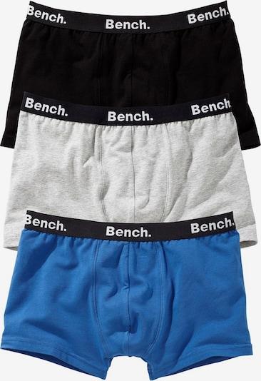 BENCH Boxershorts (3 Stück) in blau / schwarz / weiß, Produktansicht