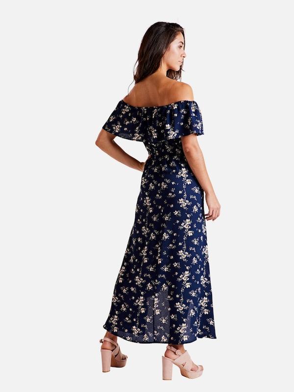 Mela 'printed Maxi En London D'été MarineMélange Bleu Couleurs Robe Dress' De FKlJTc13