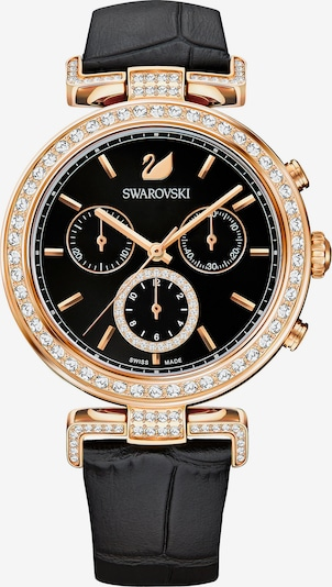 Swarovski Uhr in gold / schwarz, Produktansicht